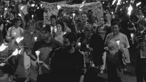 """""""Ronda de luz"""" en Plaza San Martín contra el narcotráfico"""