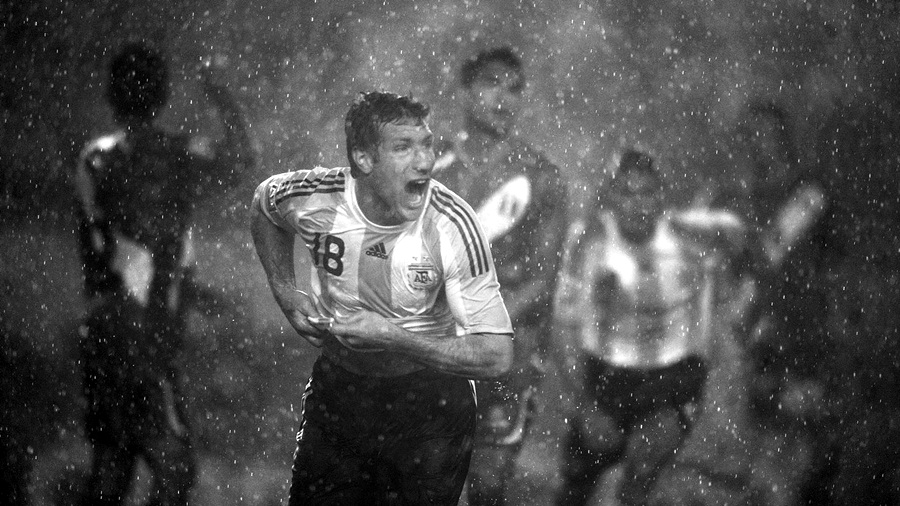 Martín bajo la lluvia