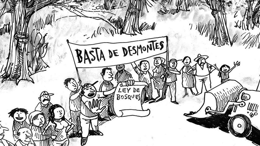 La audiencia por los bosques en la capital del desmonte