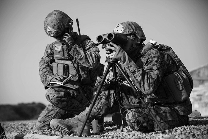 ROK-U.S. Marines Coordinate Fire During Exercise