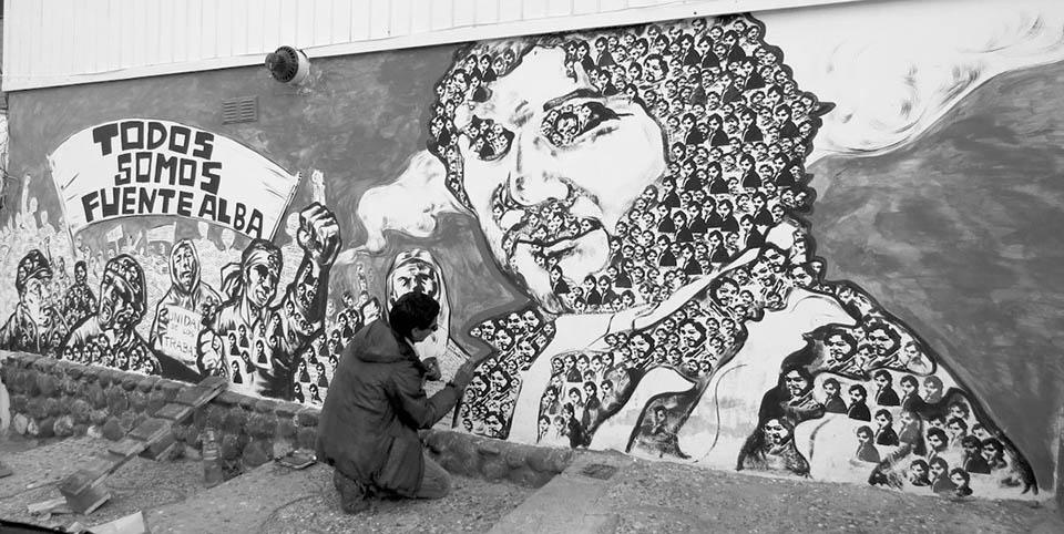 fuentealba cartel mural