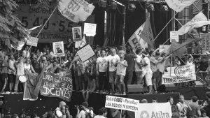 """Ante el """"paro dominguero"""", organizaciones marchan en todo el país"""