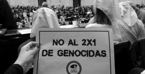 La presión popular generó consensos para frenar el 2×1 a genocidas