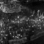 Marcha de antorchas por la libertad de Milagro Sala y reunión con la CIDH