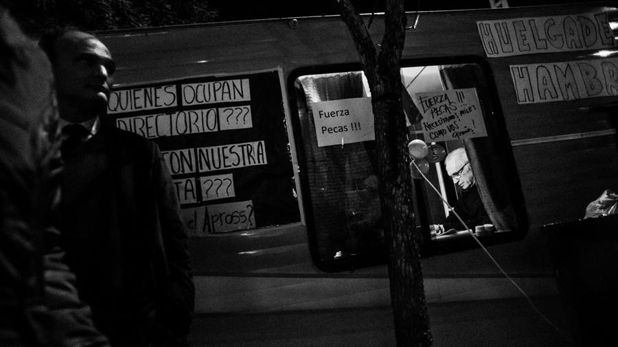 Pecas Soriano reclama que Apross cubra la operación a la que debió ser sometido (Fotografía Colectivo Manifiesto / La Tinta)
