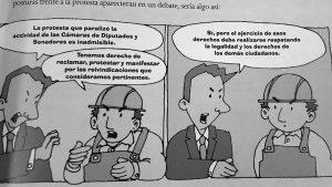 Manuales escolares del Ministerio de Educación cuestionan el derecho a huelga
