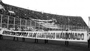 Las canchas se preguntan: ¿Dónde está Santiago Maldonado?