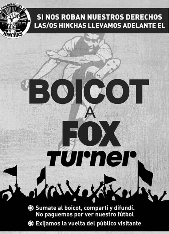 coordinadora-hinchas-boicot-fox-turner-latinta