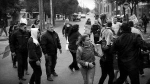 Patota de la UTA en acción: impidieron escrache a la empresa TAMSE