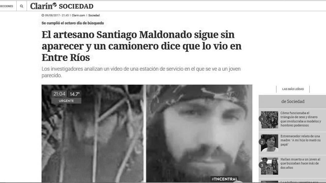 Titular-Clarin-Santiago-Maldonado