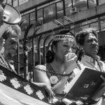 Marcha transfronteriza en apoyo al pueblo Mapuche