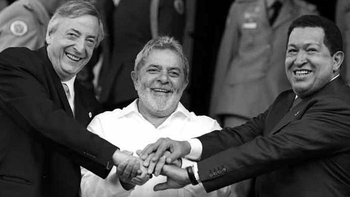 contra-neoliberalismo-Kirchner-lula-Chávez