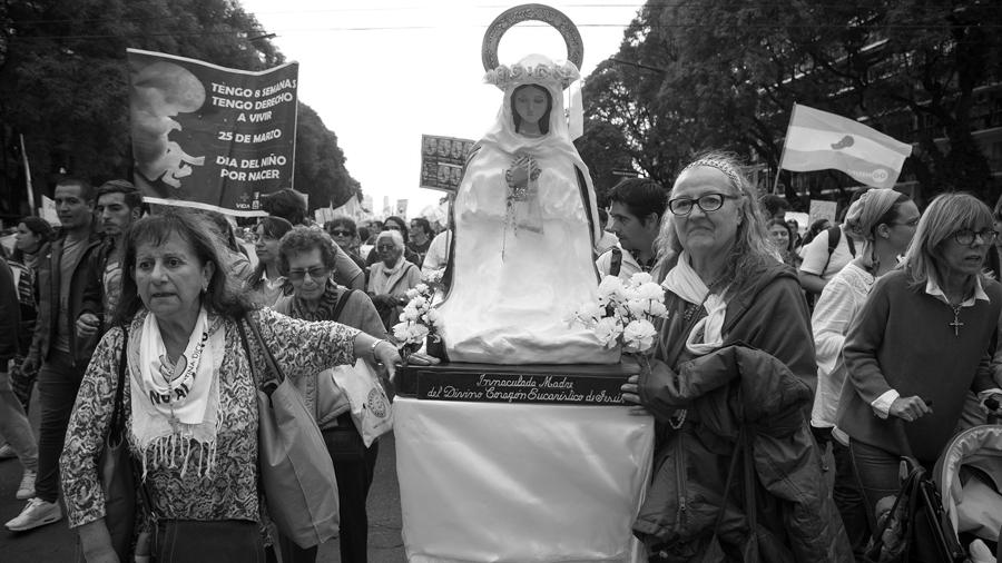 Marcha en contra del aborto y a favor de la vida