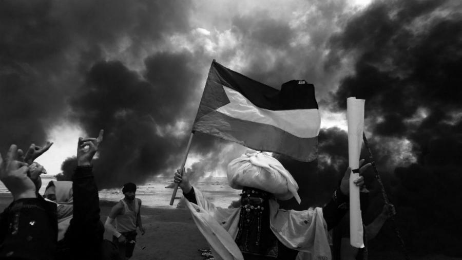 Palestina-manifestantes-Franja-de-Gaza-la-tinta