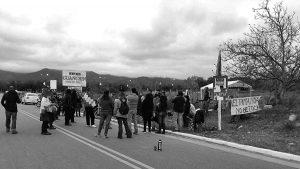 Famatina: inició corte de ruta contra la minería en Guanchín