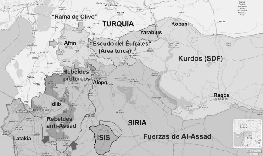 Afrin-mapa-norte-de-Siria-la-tinta