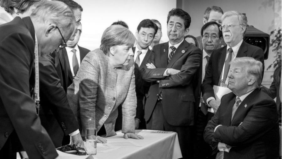 G7-Trump-Merkel-Macron