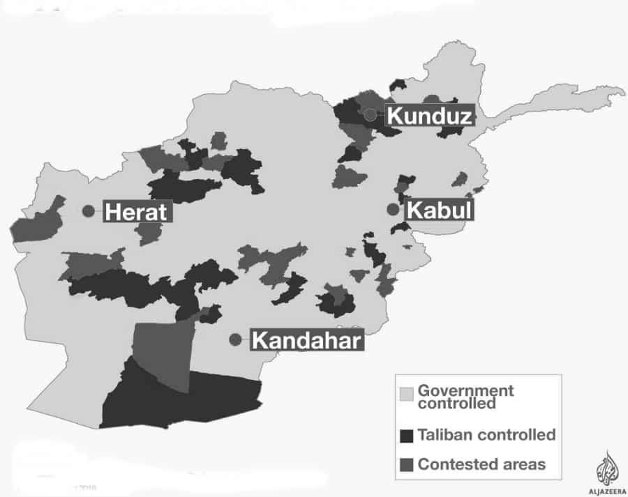 Afganistan Taliban control territorio la-tinta