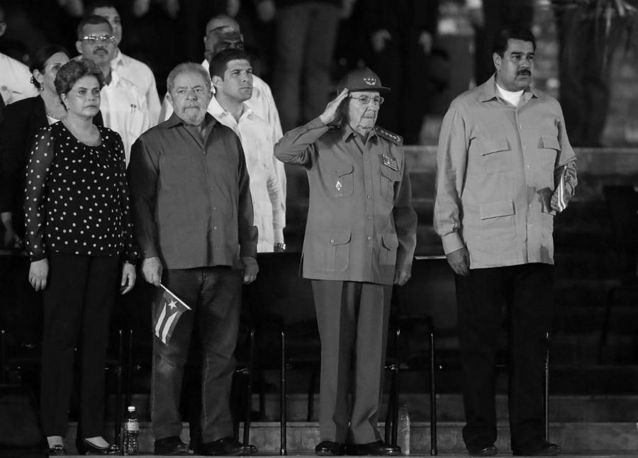 Brasil Lula Dilma Raul Castro Maduro la-tinta