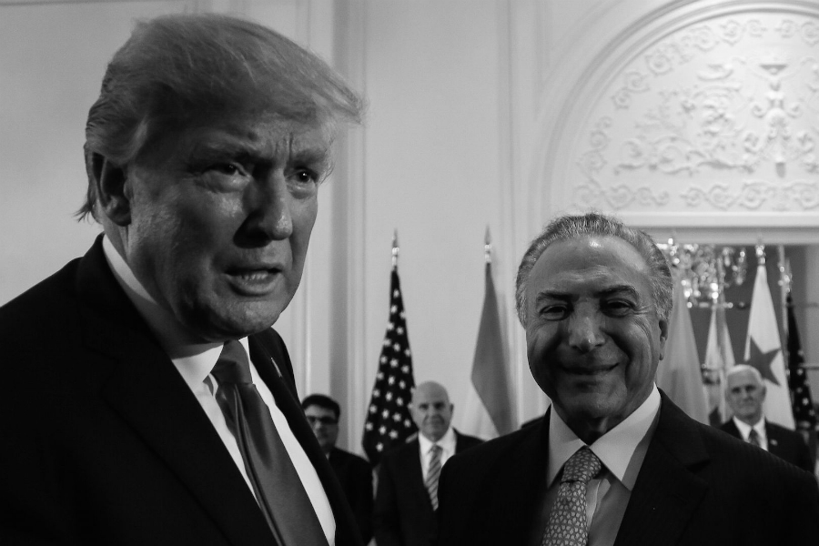 Brasil Michel Temer Donald Trump la-tinta