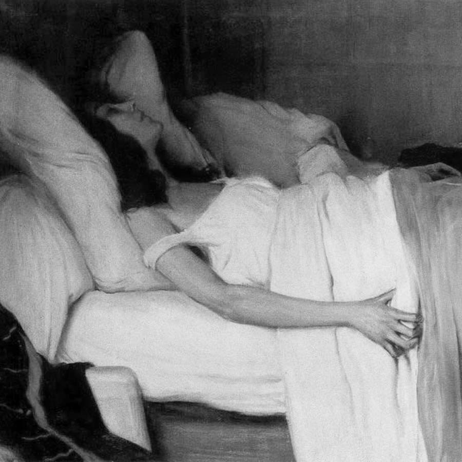 La-morfina-Santiago-Rusinol-mujer-acostada-cama