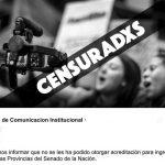 Censura en el Senado: rechazaron las acreditaciones de medios populares para el #8A