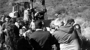 Vecinos heridos y detenidos por frenar un desmonte y denunciar el avance ilegal de la Autovía