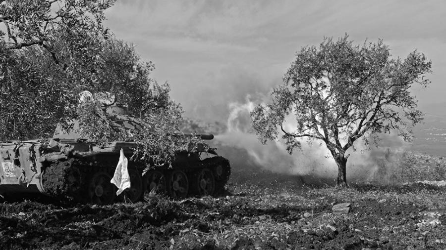 Afrin campo tanque turco la-tinta