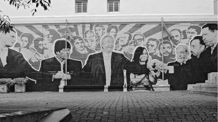 America Latina presidentes mural la-tinta