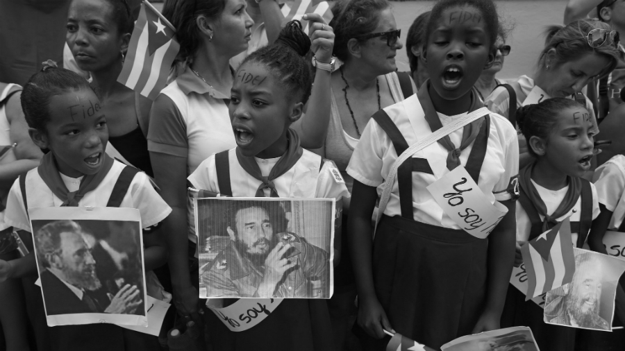Cuba estudiantes Fidel castro la-tinta