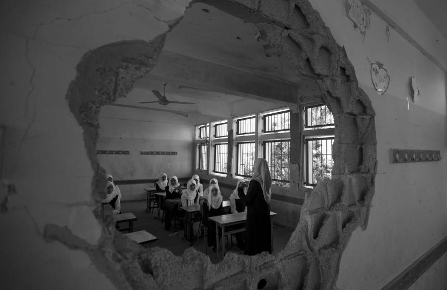 Gaza escuela niñas la-tinta