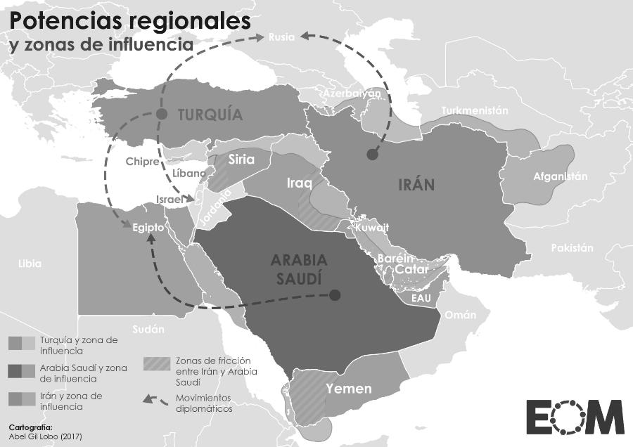 Golfo Persico mapa la-tinta