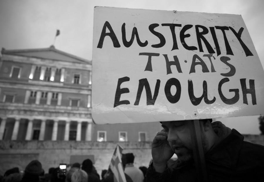 Grecia protesta contra FMI la-tinta