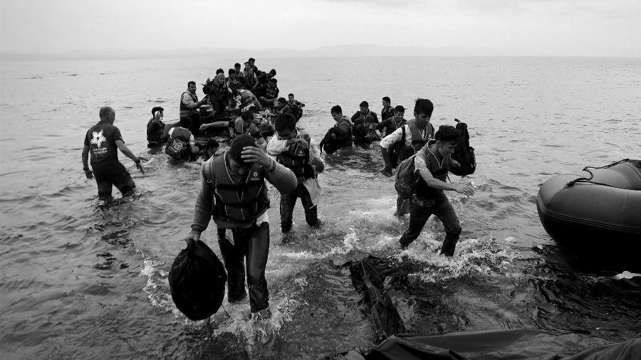 Grecia refugiados isla de Lesbos la-tinta
