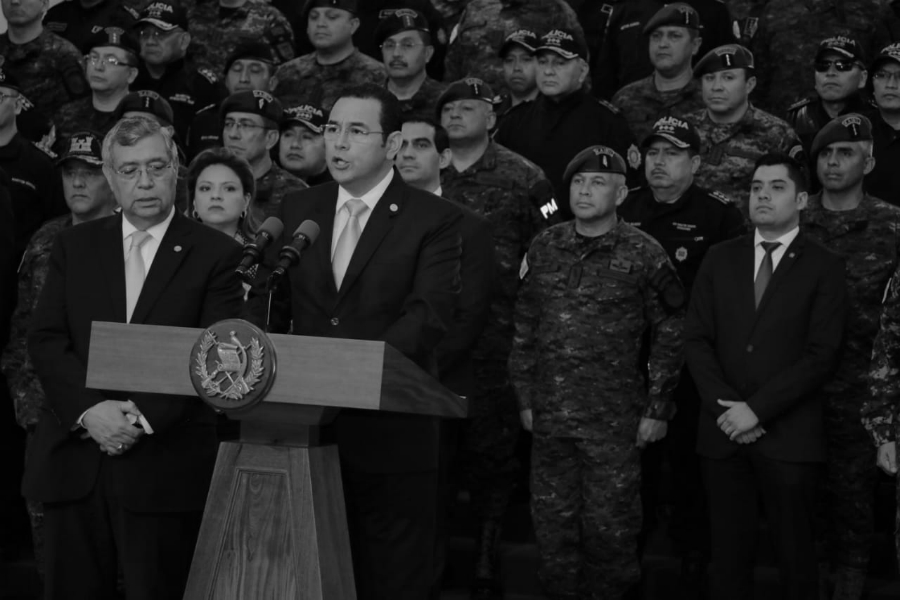 Guatemala presidente Jimmy Morales la-tinta