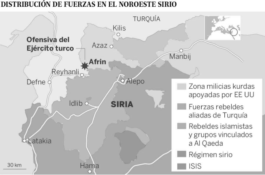 Siria fuerzas en el norte la-tinta