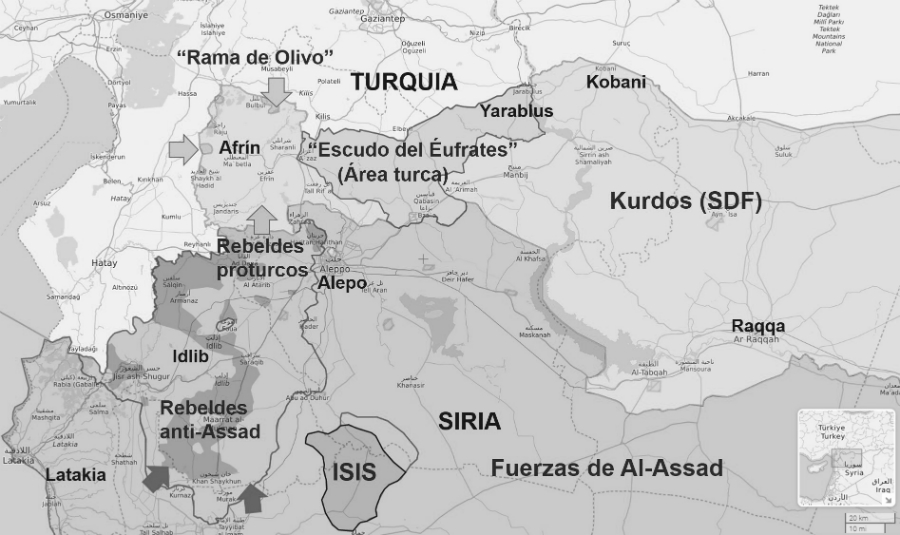 Siria mapa de la guerra la-tinta