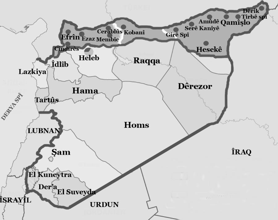 Siria mapa la-tinta