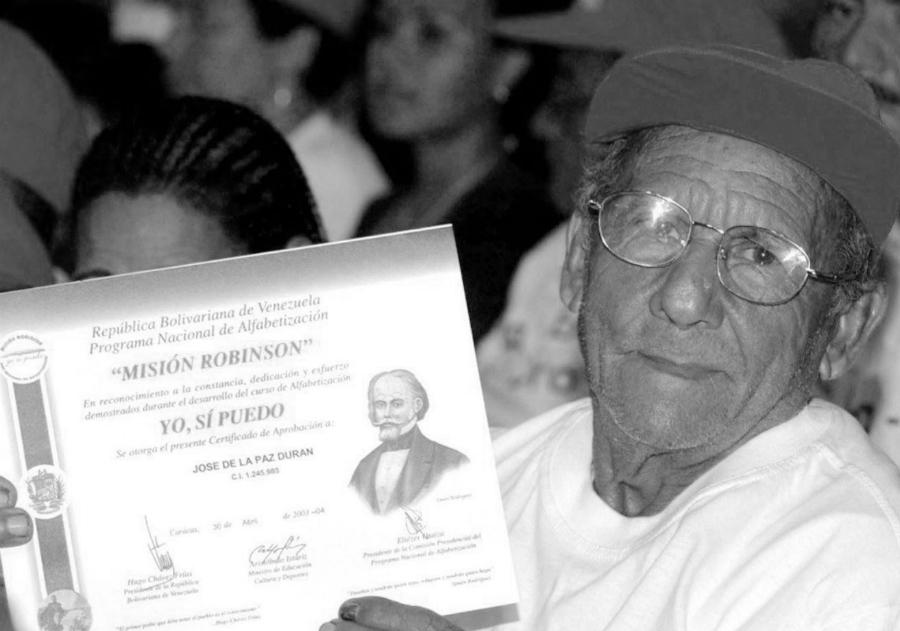 Venezuela Yo si puedo alfabetizacion la-tinta
