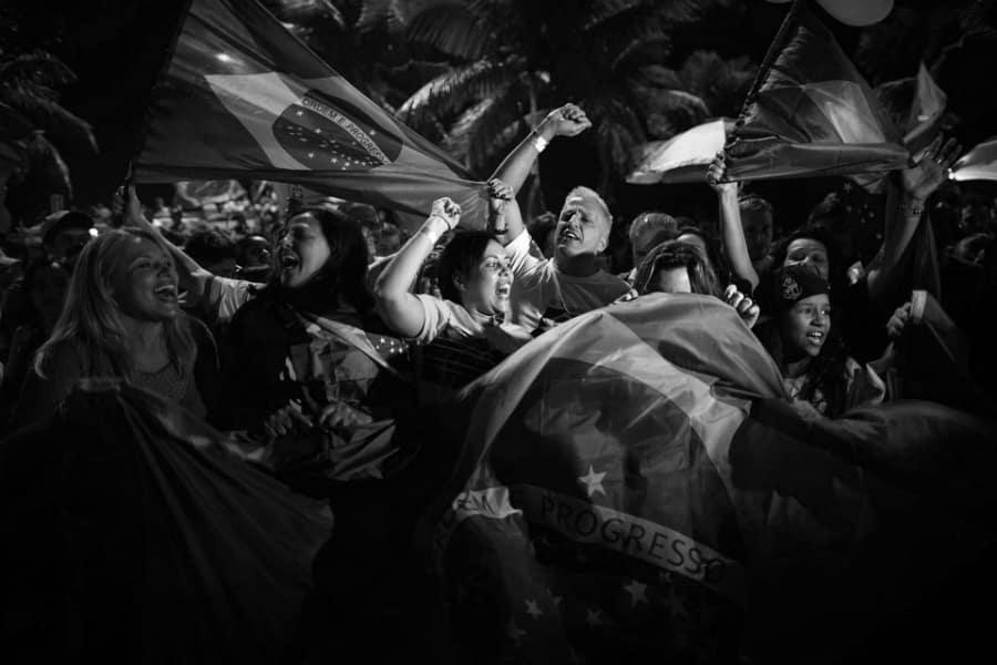 Brasil festejos después de las elecciones la-tinta