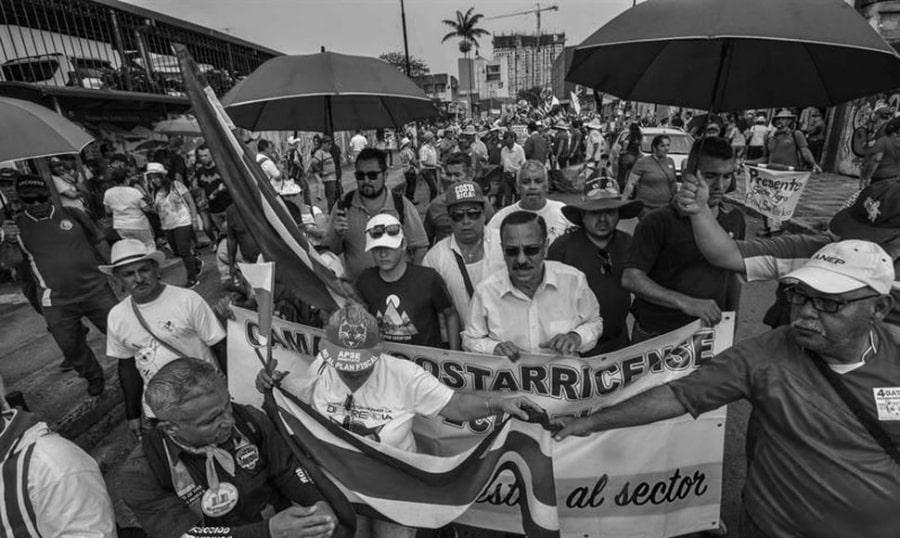 Costa Rica Huelga General la-tinta