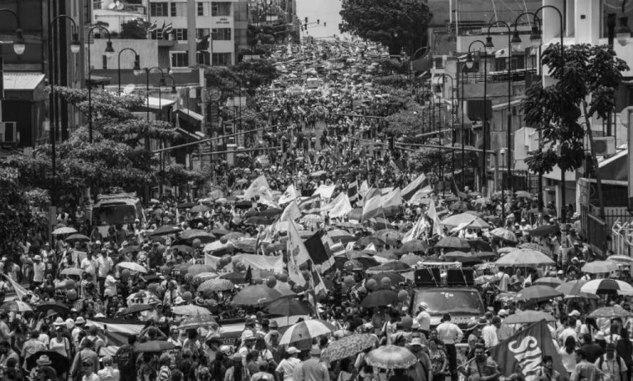 Costa Rica movilizacion huelga general la-tinta