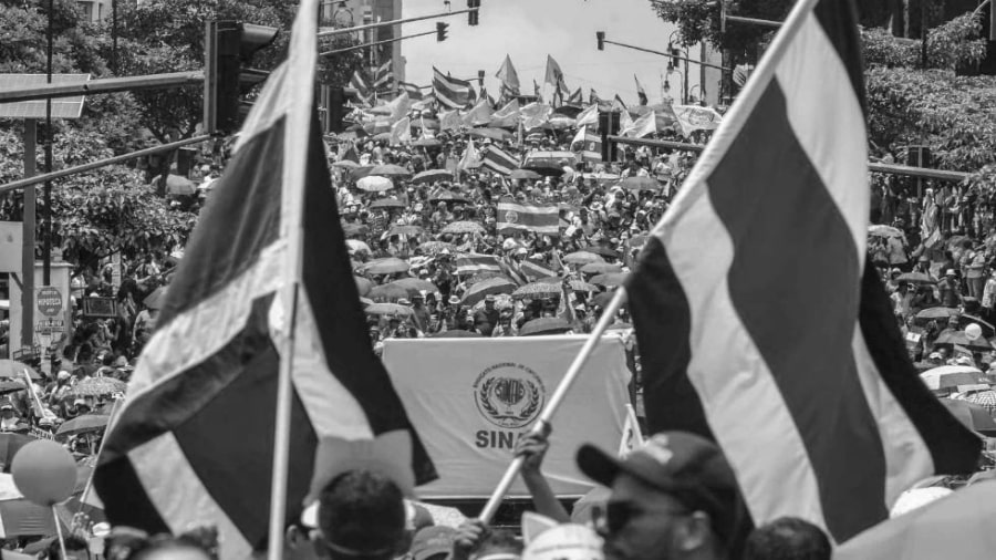 Costa Rica movilizacion huelga la-tinta