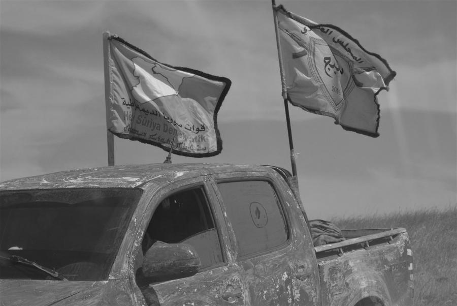 Siria FDS banderas la-tinta