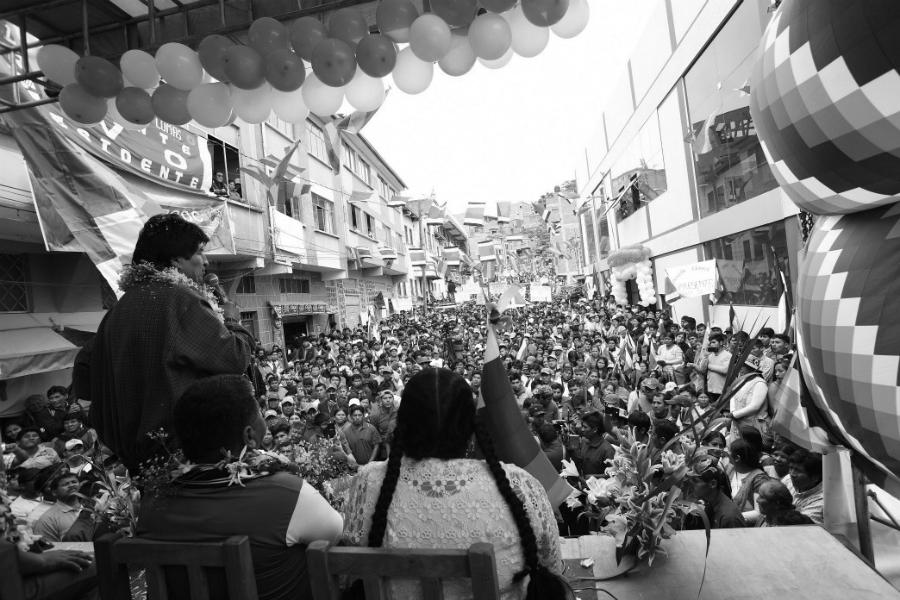 Bolivia Evo Morales acto la-tinta