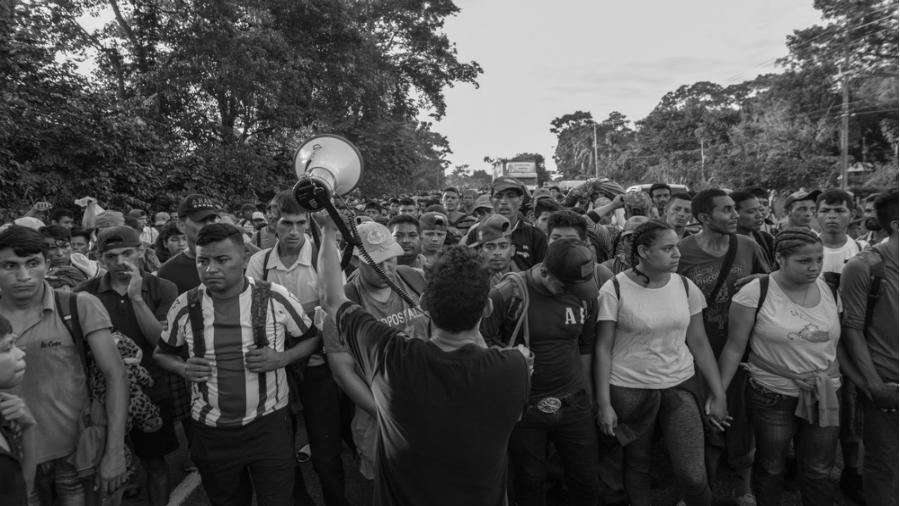 Honduras caravana migrante la-tinta