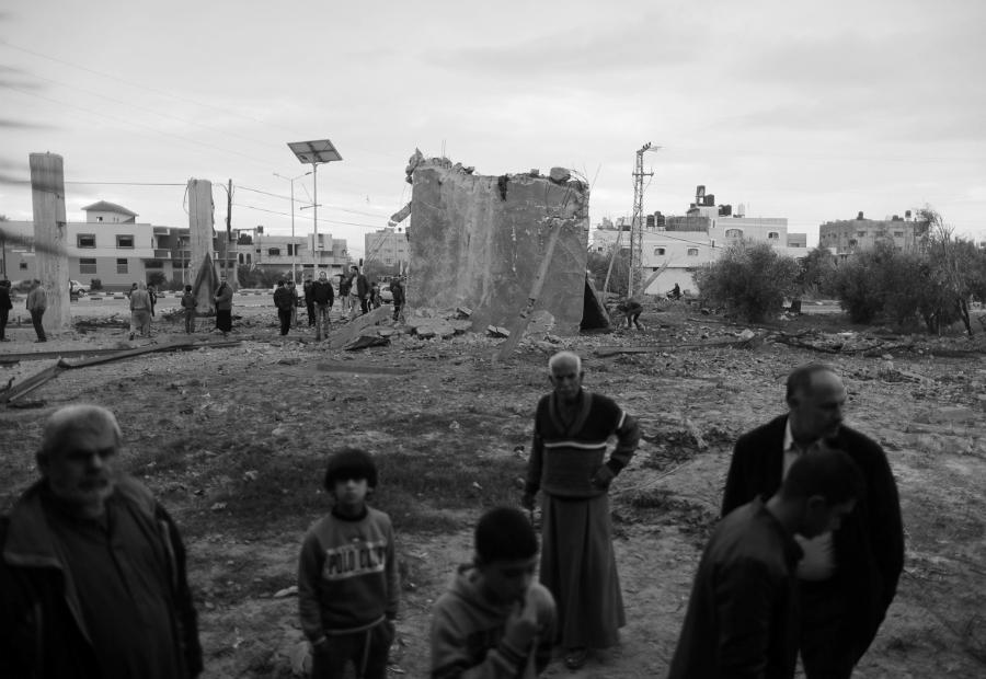 Palestina Gaza destrucción la-tinta