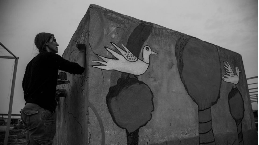Rojava Jinwar trabajo en la aldea la-tinta