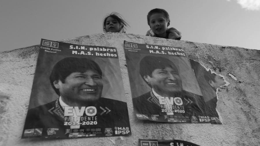 Bolivia Evo Morales afiches elecciones la-tinta