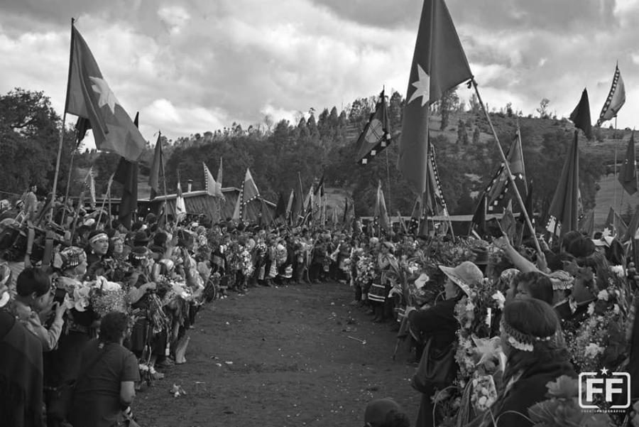 Chile ceremonia mapuche Catrillanca la-tinta